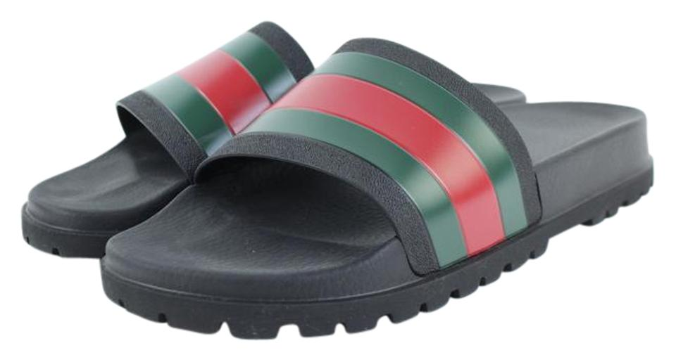 abce09e96 Gucci Black Web Slide 98gt5 Sandals Size US 13 Regular (M, B) - Tradesy