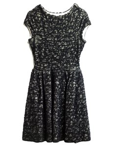 Dior short dress Black and white Christian Mesh Skater Fit Flare on Tradesy