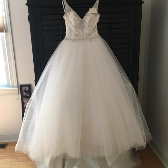 VENUS Ivory Tulle And Silk Satin Gown Cinderella Style