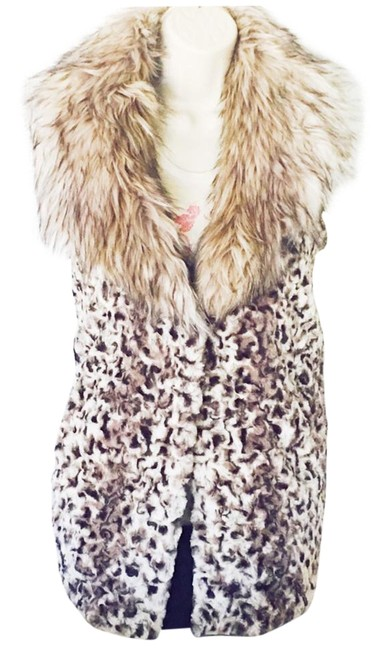 Item - Brown Chic Sheared Faux Fur with Faux Fox Collar S Vest Size 4 (S)