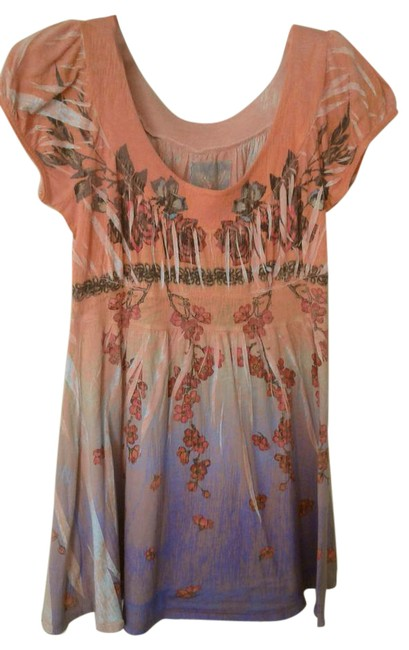 Item - Multicolor Short Sleeve Soft Tank Top/Cami Size 4 (S)