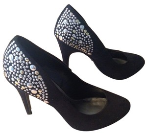 Xappeal Dressy Studded Formal Black with silver studs Pumps