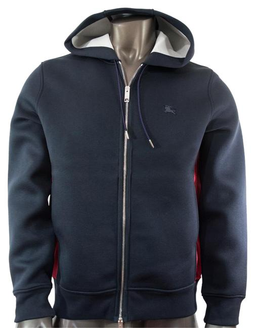 Item - Navy Jersey L Dently Hoodie Top Jacket Size 12 (L)
