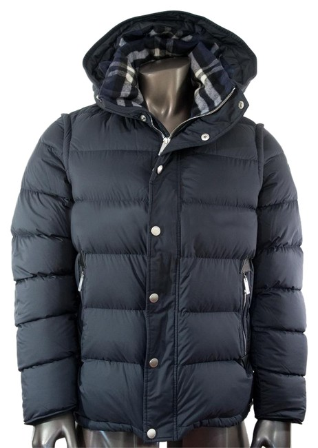 Item - Navy Detachable-sleeve Down-filled Puffer Men's Two-in-one 52 Uk -- 42 Us Jacket Size OS (one size)