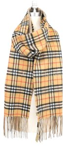 Burberry London Long Reversible Vintage Check Double-faced Cashmere Scarf
