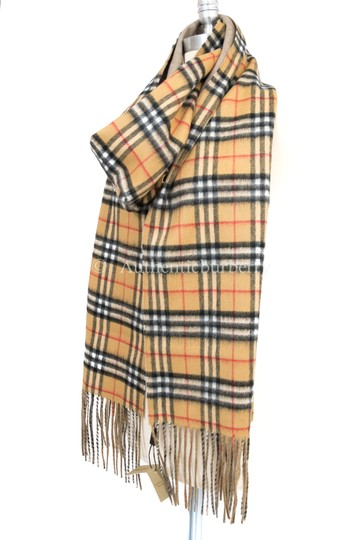 Burberry London Long Reversible Vintage Check Double-faced Cashmere Scarf Image 1