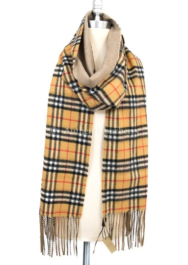 Burberry London Long Reversible Vintage Check Double-faced Cashmere Scarf Image 2