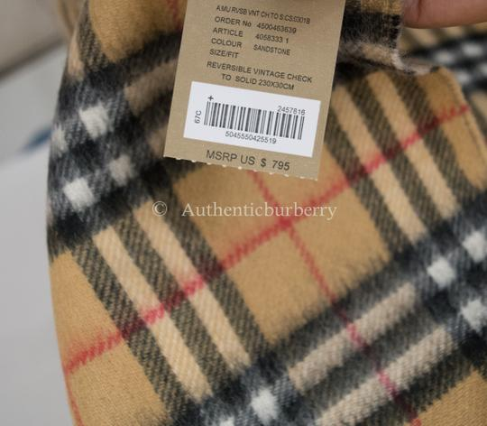 Burberry London Long Reversible Vintage Check Double-faced Cashmere Scarf Image 4