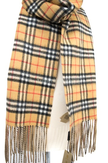 Burberry London Long Reversible Vintage Check Double-faced Cashmere Scarf Image 5