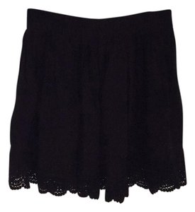 Aropostale Crochet Mini Elastic Loose Comfortable Mini Skirt Black