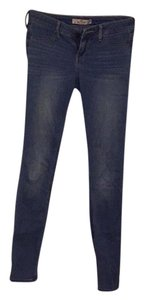 Hollister Embroidered Long Pockets Comfortable Skinny Jeans-Medium Wash