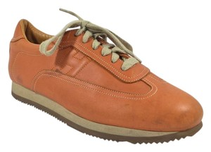 Hermès Mens Sneakers Driving Sneakers Penny Lane Orange Athletic