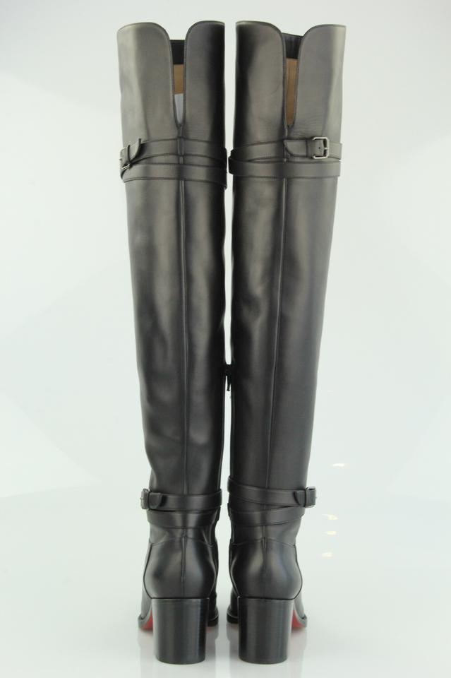 08024eef4a1 Christian Louboutin Black Karialta 70 Leather Over-the-knee Boots/Booties  Size EU 38 (Approx. US 8) Regular (M, B) 45% off retail