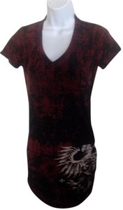 Affliction short dress burgandy on Tradesy