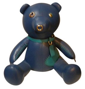 Coach COACH 75TH ANNIVERSARY BLUE LEATHER BEAR NAMED ACE