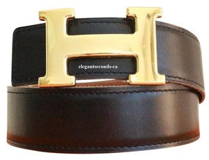 Hermès Hermes 32MM/80CM Constance Reversible Belt Kit Gold Plated Buckle