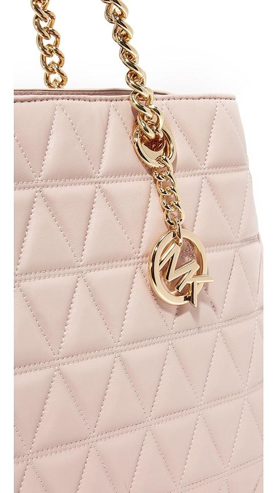 a14ebeab792f MICHAEL Michael Kors Scarlett Quilted Leather Large Shoulder Tote in Soft  Pink Image 5. 123456