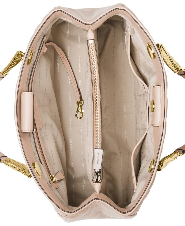 e728cffab614 MICHAEL Michael Kors Scarlett Quilted Leather Large Shoulder Tote in Soft  Pink Image 5. 123456