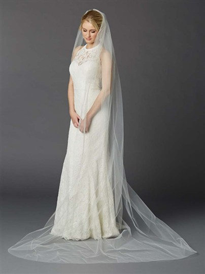 Preload https://img-static.tradesy.com/item/22071111/mariell-ivory-tulle-with-silver-accents-as-shown-long-cathedral-length-one-layer-cut-edge-in-4433v-b-0-0-540-540.jpg