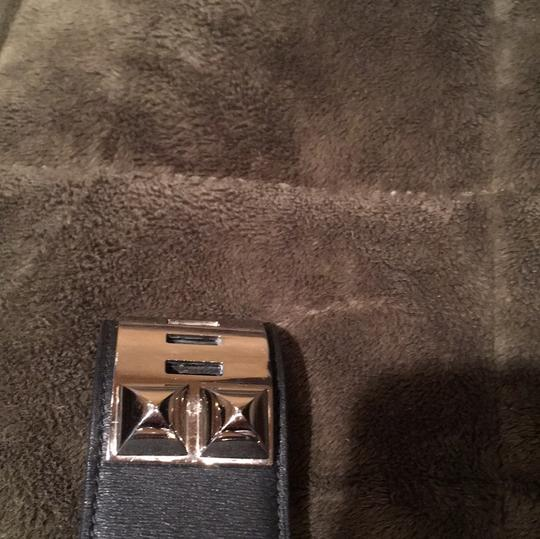 Hermès Hermes Collier de Chien Black Leather Band and Silver Hardware