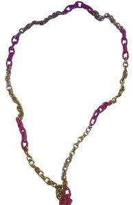 J.Crew Fuschia Link Necklace