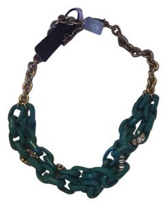 J.Crew Teal Link Necklace