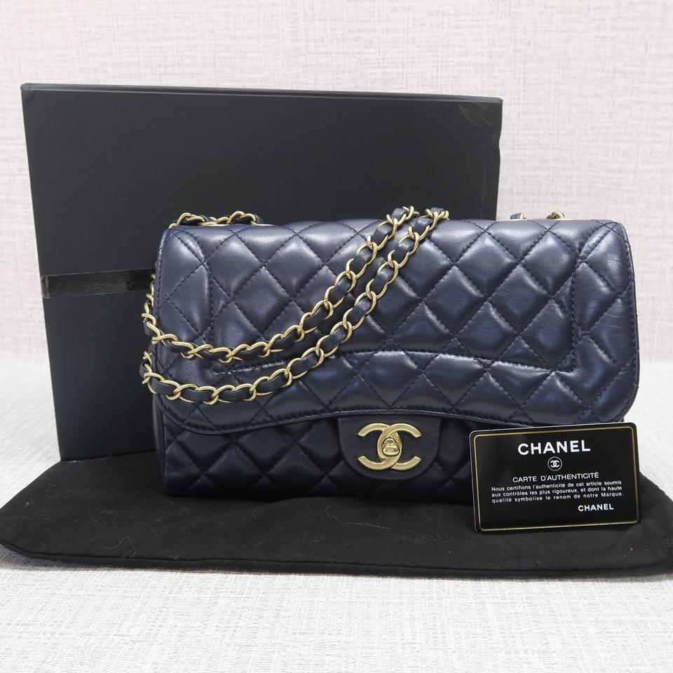 015aa0f505e6 Chanel Classic Flap Diana 2015 Quilted Nightblue Lambskin Shoulder ...