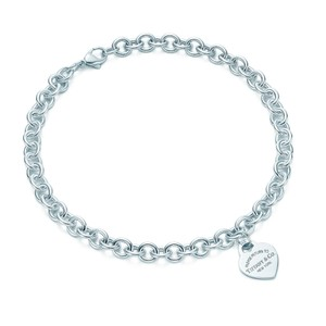 f1358ead5 Tiffany & Co. T&Co Heart tag link necklace.