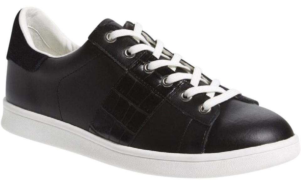 33ee5426c Sam Edelman Black Marquette Leather   Suede Fashion Sneaker Sneakers ...
