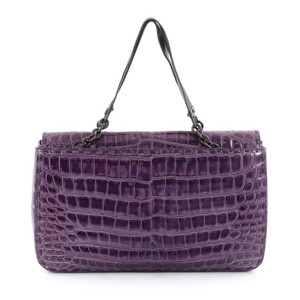Bottega Veneta Crocodile Tote in Purple