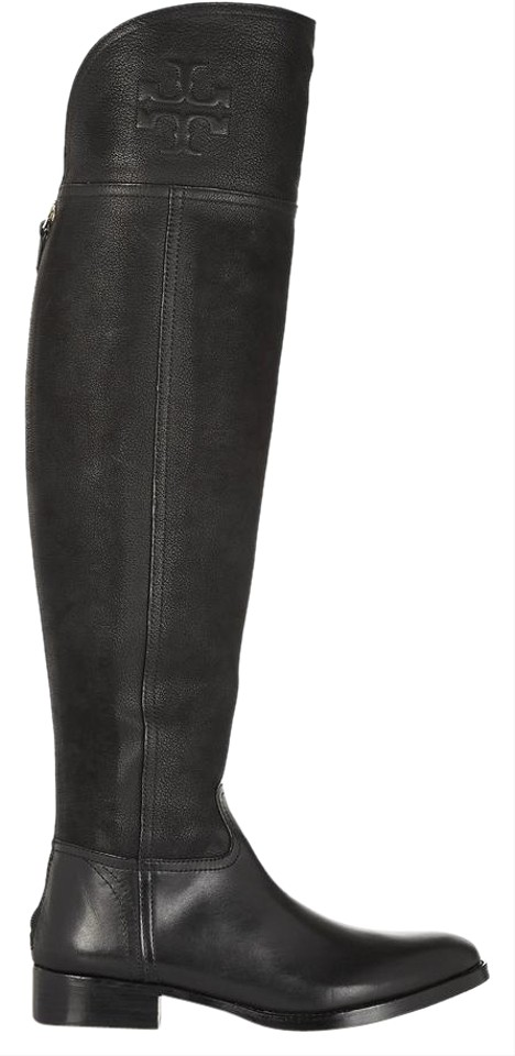 43c35afeef39 Tory Burch Black Simone Over-the-knee Boots Booties Size US 6 ...