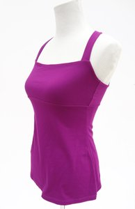 Susana Monaco Pink Fuschia Stretch Yoga Lululemon Top Mulberry