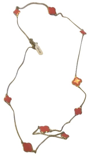 Simply Accessories Long Orange Necklace