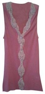 Only Hearts Only Hearts dark Mauve & Nude Nylon & Lace Tank