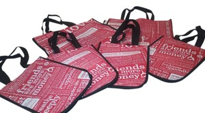 Lululemon Of 6 Reusable Bags Tote in red