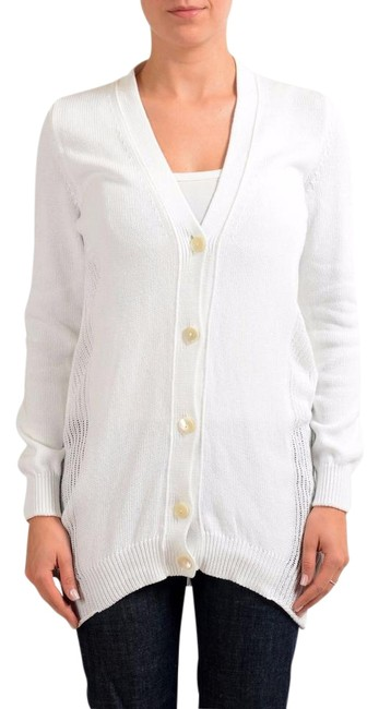 Item - White 1 Knitted Women's Sweater Cardigan Size 8 (M)