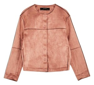 Zara Coat Suede dusty pink Jacket