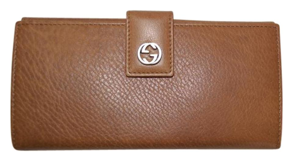 807b40cb2234 Gucci Brown Womens Gg Leather Continental Made In Italy Wallet - Tradesy