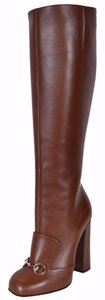 Gucci Knee High Brown Boots