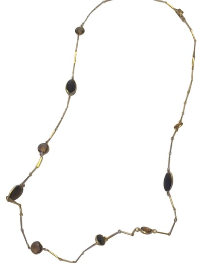 Banana Republic Brown And Gold Chain Necklace