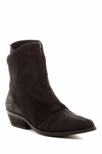 Free People Calf Hair Zip Ankle Leather Black Boots