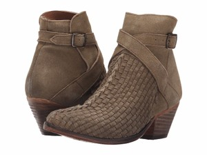 Free People Ankle Leather Buckle Western Soapstone Boots
