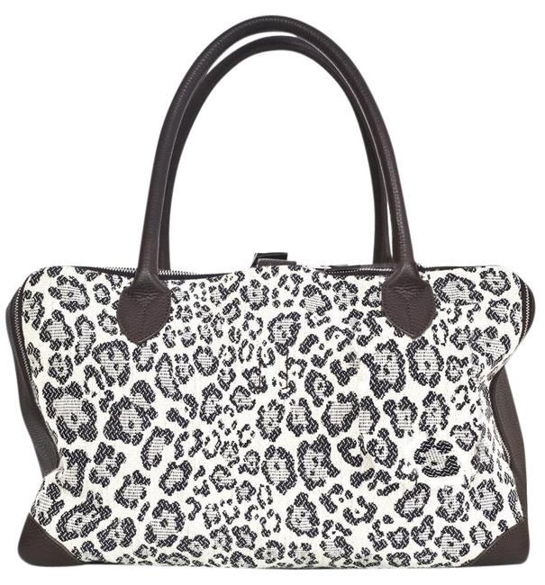 Item - Leather Leopard Medium Equipage with Db Brown Canvas Tote