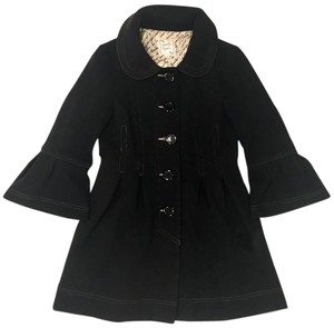 Nanette Lepore Pleated Cotton Travel Casual Vintage Coat