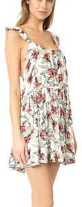 Free People short dress Neutral Ob574950 Dear You Floral on Tradesy