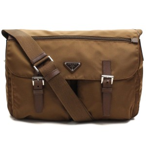 18d6b1bd942a Prada Messenger Diaper Nylon Brown Messenger Bag