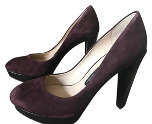 French Connection Leather Stylish Deep Burgundy Pumps