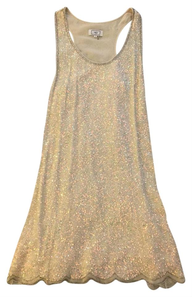 57a1c69a MLV White Sequin Short Cocktail Dress Size 4 (S) - Tradesy