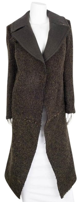 Item - Forest Green Boucle Long Coat Size 6 (S)