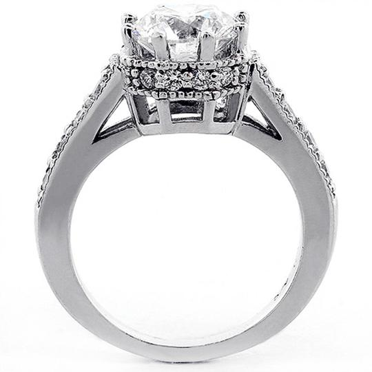 White 8-prong Semi-mount 2.73tcw Round Cut Engagement Ring